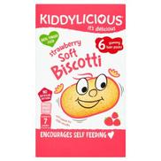Kiddylicious Strawberry Soft Biscotti 7+ Months 120 g