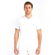 Baykar Half Sleeve White Men's V-Neck Vest - Set of 6 S - XXXL