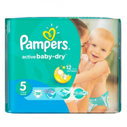 Pampers Baby-Dry Diapers Size 5 Junior 11-16 kg 38 Pieces