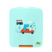 Citron Green Dino Snack Box With 21 Accessories 17.5 x 15 x 5 cm