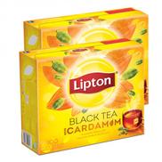 Lipton Flavored Black Tea Cardamom 2 x 100 Tea Bags