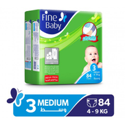 Fine Baby Stage 3 Medium 4-9 Kg Diapers 84 Pieces