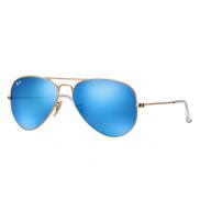 Ray-Ban Aviator Blue Flash Unisex Sunglasses - 58 mm