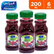 Almarai Mixed Berry Juice 6 x 200 ml