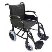 Al Essa Aluminum Light Weight Wheelchair 19 inch with Solid Spoke Rear 12 inch Wheel Black