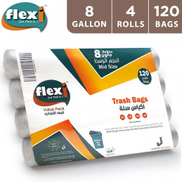 Flexi Trash Bags 8 Gallon Medium - 120 Bags