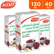 KDD Hot N Spicy Tomato Paste 40 x 130 g