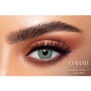 Dahab Color Blend 3 Months Non Prescription Contact Lenses Lumirere Green 1 Pair with Solution