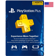 عضوية Sony PlayStation Plus لمدة 3 أشهر - الولايات المتحدة - العناصر التي يتم تسليمها عن طريق البريد الإلكتروني