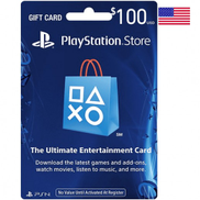100 PlayStation Store Gift Card - US Email Delivery