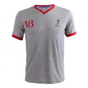 Fifa World Cup Russia 2018 Generic Men T-shirt V Neck Grey Melan Small-XXLarge