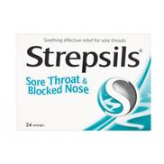Strepsils Sore Throat Relief & Blocked Nose 24s