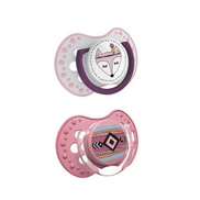 Lovi Indian Summer Dynamic Soother 3-6 Months 2 Pieces Pink