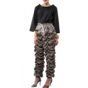 Blanc Concept Bronze Ruffled Silk Pants