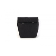 Folklore Black Felt Mini Wrap Pouch
