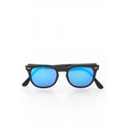نظارة شمسية زرقا ب طار سود