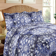 Maple Leaf Bed Spread Set 220x240cm Assorted Colors & Designs