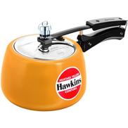 Hawkins Ceramic Coated Contura 3L Mustard Yellow Pressure Cooker CMY30